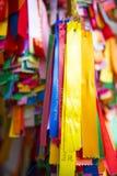 PENANG, MALAISIE 10 AOÛT 2015 : : le ruban coloré pour prient dedans Photographie stock