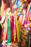 PENANG, MALAISIE 10 AOÛT 2015 : : ruban coloré pour le couillon dedans Photos libres de droits