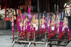 Penang, Malasia, julio de 2015 - ritual del templo Imagen de archivo