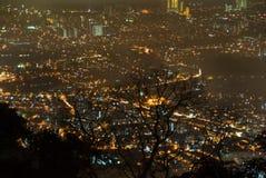 Penang, Malaysia. Night view from Penang Hill, Malaysia Stock Photography