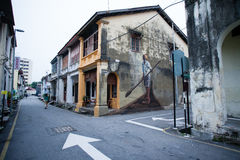 Penang, Malaysia architecture narrow streets Stock Image