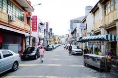 Penang, Malaysia architecture narrow streets. Pahang, Malaysia architecture narrow streets. Dirty moldy humidity cityscape stock photos