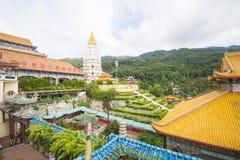 PENANG MALAYSIA-AUGUST 10, 2015 härliga arkitektur av Kek L royaltyfria foton