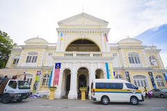 Penang Malaysia - Augusti 10-2015:: Penang stadshus i George Royaltyfri Bild