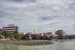 Penang, Malaysia - Dec 14, 2015: The Penang culture heritage of lifestyle and environment at the Chew Jetty, Penang, Malaysia. Royalty Free Stock Photo