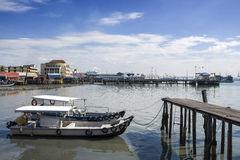 Penang, Malaysia - Dec 14, 2015: View from Chew Village Jetty, Penang, Malaysia Royalty Free Stock Photo