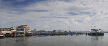Penang, Malaysia - Dec 14, 2015: View from Chew Village Jetty, Penang, Malaysia Stock Photo