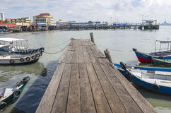 Penang, Malaysia - Dec 14, 2015: View from Chew Village Jetty, Penang, Malaysia Stock Photos