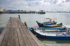 Penang, Malaysia - Dec 14, 2015: View from Chew Village Jetty, Penang, Malaysia Royalty Free Stock Image