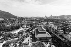 PENANG MALAYSIA, DECEMBER 20 2017: Kek Lok Si tempel i Penang royaltyfria bilder