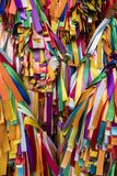 PENANG, MALAYSIA, DECEMBER 19 2017: Wish ribbons in chinese temple. PENANG, MALAYSIA, DECEMBER 19 2017: Wish ribbons in chinese buddhist Kek lok Si temple in Royalty Free Stock Photography