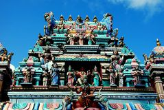 Penang, Malaysia: Hindu Temple on Penang Hill Stock Images