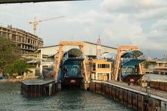 PENANG ,MALAYSIA - JuPENANG ,MALAYSIA - June 10 2016: Ferry harb Stock Photos