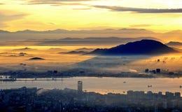 Penang, Malaysia. Sunrise at Penang Hills, Malaysia Royalty Free Stock Images