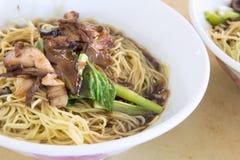 Penang Wanton Mee Noodle Closeup Stock Images
