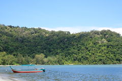 Penang National Park And Boat Stock Photography