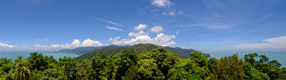 Penang National Park  Taman Negara Pulau Pinang - scenic panor. Amic view of the island from the top of the hill Stock Photography