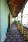 Penang Peranakan Mansion. Corridor with historic details Royalty Free Stock Image