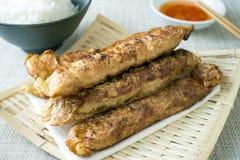 Penang sławny uliczny jedzenie dzwonił Loh Bak lub Lobak Zdjęcia Stock