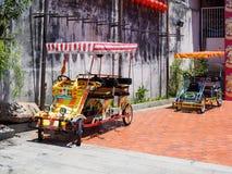 Penang`s quadricycles or surrey bikes Royalty Free Stock Image