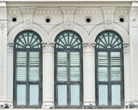 Penang shophouse architecture Royalty Free Stock Photos