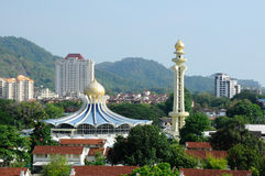Penang statmoské i Penang Royaltyfri Bild