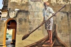 "Penang-Straßen-Kunst ""India Boatmanâ€- Lizenzfreies Stockfoto"
