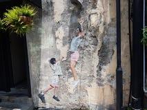 Penang-Straßenkunst Lizenzfreie Stockfotos