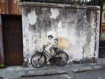 Penang-Straßenkunst Stockfotos