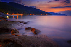 Penang strand Fotografering för Bildbyråer