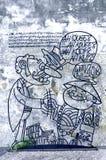 "Penang Street Art ""Ah Quee"" Royalty Free Stock Photos"