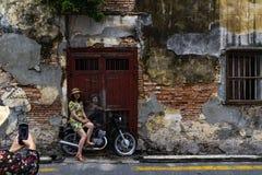 Penang street art stock image