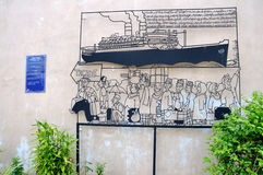 "Penang Street Art ""Pilgrim"" Stock Images"
