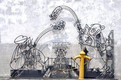 "Penang Street Art ""Shorn Hair"" Royalty Free Stock Image"