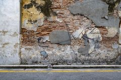 Penang street art on wall Royalty Free Stock Photography