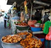 Penang street food. Variety of food at Kampung Malabar, Georgetown, Penang Stock Photos