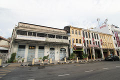 Penang street viewin Malaysia Royalty Free Stock Photos