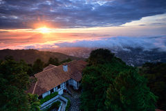 Penang Sunrise. Sunrise view from Penang Hill Royalty Free Stock Image