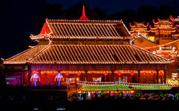 Penang - Temple Of Supreme Bliss (Kek Lok Si). This roof architecture of the main hall was based on Ming Dynasty's architecture Royalty Free Stock Images