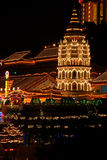 Penang - Temple of Supreme Bliss (Kek Lok Si). Shot this mesmerizing and fully lighted pagoda at the Temple of Supreme Bliss in Penang. It is lighted once during Royalty Free Stock Photography