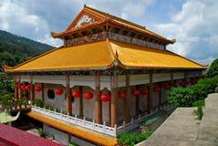 Penang - Temple of Supreme Bliss (Kek Lok Si). An interesting angle shot of the Main 'Golden' Temple at Kek Lok Si, Penang Royalty Free Stock Photos