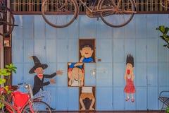 Penang vägg konstverk namngav Magi Fotografering för Bildbyråer