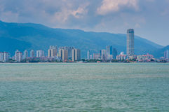 Penang view from the sea Stock Image