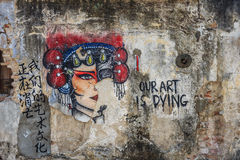 Penang wall artwork Royalty Free Stock Photos
