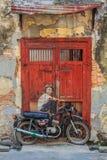 Penang-Wandgrafik stockfotos