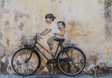 Penang-Wandgrafik stockfotografie