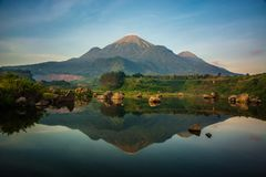 Mount penanggungan, mojokerto, east java, indonesia stock photography