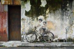 Penangmuurschilderingen Georgetown Maleisië Royalty-vrije Stock Foto's