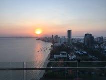 Penangs solnedgång Arkivfoton