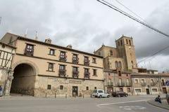View of one of the streets of the village of Penaranda de Duero. Penaranda de Duero, Burgos, Spain April 2015:  View of one of the streets of the village of Royalty Free Stock Photo